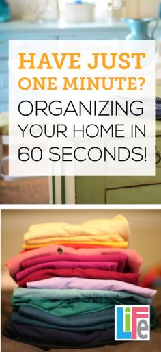 LOVE this- Multitask while doing simple 60 seconds organizing tips, while waiting on the phone, or in carpool lanes.  Real solutions for busy moms!