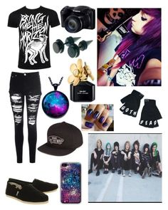 """""""Hanging out with My Digital Escape!"""" by one-direction-tumblr-girl on Polyvore featuring Glamorous, TOMS, Kill Star, Vans, Marc Jacobs, women's clothing, women's fashion, women, female and woman"""