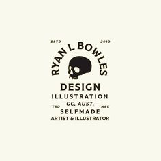 Tyan Bowles Design illustration, artist, skull, black, white, parchment, serif, clean, typography