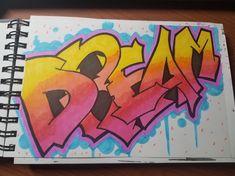 How to Draw Graffiti Style Letters for Beginners – Art by Ro - streetart Street Art Graffiti, Easy Graffiti Drawings, Word Drawings, Graffiti Doodles, Graffiti Designs, Graffiti Wall Art, How To Draw Graffiti, Graffiti Quotes, Graffiti Wallpaper