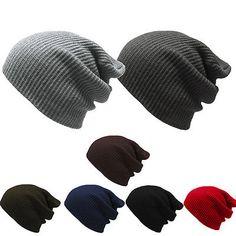 Fashion Men's Women's Malha folgado Beanie Oversize chapéu De Inverno Esqui Calça Chic Cap