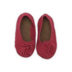 {knit ballerina slippers}