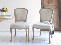 Brioche | Oak French Style Kitchen Chairs | Loaf