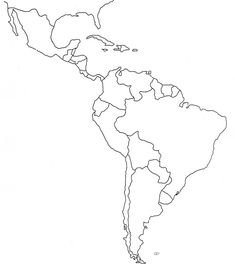 Worksheets A Blank Map Of Central And South America free blank map of north and south america latin printable education pinterest for kids search a