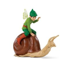 This is an Ollie on a Snail figure that is produced by Safari Ltd. This figure is part of Safari's fantasy line of figures and it's awesome. It's hand painted and well detailed. Ollie on a Snail is a