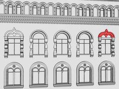 Кокошник – декоративная деталь полукруглой или килевидной формы с профилированным обрамлением. Кокошники в оформлении наличников окон, как типичный элемент русского зодчества XVII века, широко применялись и в архитектуре «русского» стиля.