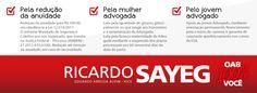 #oab-sp #advogados #advogadas #ricardosayeg #votoricardosayeg    http://www.facebook.com/ricardosayeg2012