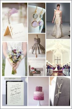 Wedding Color Inspiration: Lavender and Gray - The Bride's Guide : Martha Stewart Weddings