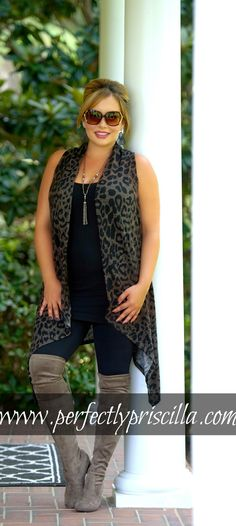 #vest #cheetah #cute #lookoftheday #curvy #plus #plussize #boutique #fashion #fashionista
