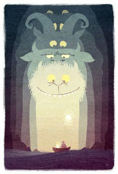 Farewell Maurice Sendak Illustration – Vivienne To Maurice Sendak, Creative Poster Design, Creative Posters, Art Design, Design Ideas, Art And Illustration, Book Illustrations, Illustration Children, Monster Illustration