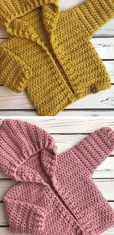 Crochet Baby Hoodie - knitting is as easy as 3 knitting is in progress . - Crochet Baby Hoodie – knitting is as easy as 3 knitting comes down to three essential skill - Knitting For Kids, Baby Knitting Patterns, Crochet For Kids, Baby Patterns, Free Crochet, Dog Crochet, Baby Sweater Patterns, Easy Knitting, Knitting Projects
