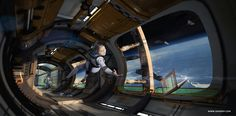 ArtStation - Space Station, lucy shen