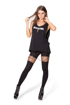 Suspender Hosiery by Black Milk Clothing Music Festival Outfits, Black Milk Clothing, My Black, Printed Leggings, Hosiery, Street Style, Style Inspiration, Fashion Outfits, My Style