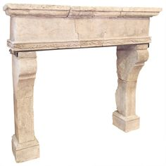 French Louis XIV Limestone Fireplace Surround | From a unique collection of antique and modern fireplaces and mantels at https://www.1stdibs.com/furniture/building-garden/fireplaces-mantels/