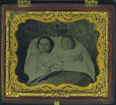 Post Mortem Portrait Two Deceased Siblings Laid Out for Their Last Picture | eBay