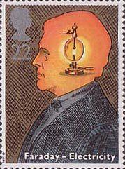 Scientific Achievements 22p Stamp (1991) Michael Faraday (inventor of electric motor) (Birth Bicentenary)