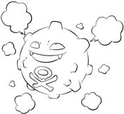 Koffing From Generation I Pokemon Coloring Pages Free Printable Coloring Free Printable Coloring Pages