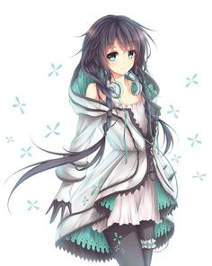 This is the closest thing to her to I could find . This is my main OC Name: Tsuki Age: 9 ( don't judge me) Personality: shy , shaky and nervous, a little paranoid, kind , protective , caring , clingy , fearful , insane. Bio: She was born blind with long black hair and odd teeth , her parents found her disappointing to them because no one in the family had black hair it was either red like blood or a silvery white . They abandoned her in a old town and left her for dead . oddly enough she…