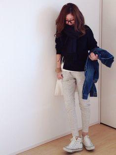 mayumiさんのテーラードジャケット「TODAYFUL テーラードネイビージャケット」を使ったコーディネート