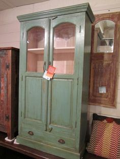 Painted antique teak cabinet CLEARANCE $695 (BR)