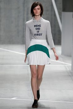 It was a Royal Tenenbaum moment at Lacoste's fall 2015 fashion show. See it all on Vogue.com.