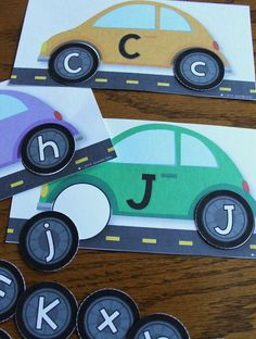 Car ABC matching for transportation theme Literacy