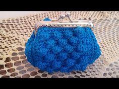 Crochet Coin Purse, Crochet Purses, Crochet Bag Tutorials, Bobble Stitch, Macrame Bag, Crochet Handbags, Knitted Bags, Crochet Designs, Luxury Handbags