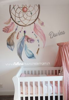 Dream Catcher Painting, Dream Catcher Art, Baby Room Decor, Bedroom Decor, Wall Decor, Home Room Design, Interior Design Living Room, Diy Wall Painting, Nursery Themes