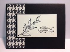 Simply Sketched Sympathy Card Stampin' Up! Rubber Stamping Handmade cards Black & White Cards  Stampin' Up! by carlene