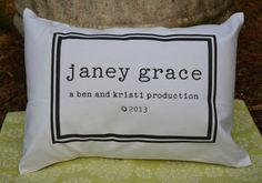 Personalized baby, baby pillow, newborn gift, baby gift idea name pillow with copyright date. on Etsy, $29.00