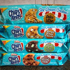 New Cookies That Taste Like Ice Cream? We'll Take Two Scoops! Chips Ahoy Cookies, Beer Cookies, Chewy Sugar Cookie Recipe, Cookie Recipes, Snack Recipes, Sleepover Food, Delicious Desserts, Yummy Food, Junk Food Snacks