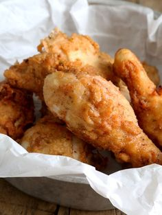 Gluten Free Fried Chicken KFC-Style. Yummy, but like all fried chicken, time consuming. Worth it, though!