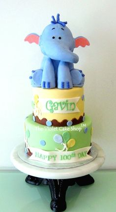 Large 3D HEFFALUMP Topper - by thevioletcakeshop @ CakesDecor.com - cake decorating website