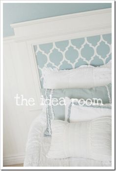 DIY moulding headboard...use this in the bedrooms