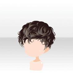 anime hair boy short curly brown  i'm an artist  curly