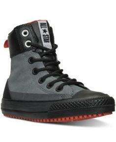 Converse Boys' Chuck Taylor Asphalt Boots from Finish Line - Gray 4 Kid Shoes, Me Too Shoes, Men's Shoes, Shoe Boots, Shoes Sneakers, Black Sneakers, Leather Sneakers, Chuck Taylor Boots, Converse Chuck Taylor