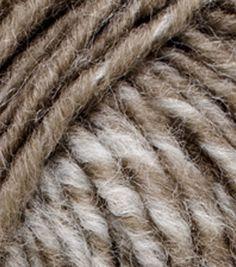 Lion Brand Scarfie Yarn, Cream/taupe