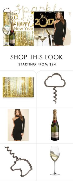 """""""2017 you are welcome"""" by jaja8x8 ❤ liked on Polyvore featuring interior, interiors, interior design, home, home decor, interior decorating, Oliver Gal Artist Co., LULUS, Rebecca Minkoff and Riedel"""