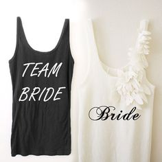 4 Team Bride Tanks and 1 Bride Bridal Shower Shirt Flower Petals Wedding Tank Top