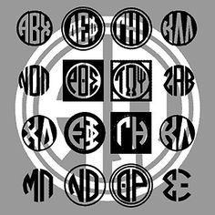 Greek Monograms by Harold's Fonts.
