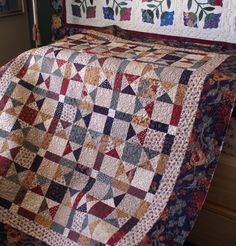 This is a small quilt I pieced several years ago and it is finally quilted! The quilting took me most of the day yesterday to stitch (after. Star Quilts, Scrappy Quilts, Mini Quilts, Quilting, Quilt Blocks, Batik Quilts, Star Blocks, Plaid Quilt, Primitive Quilts