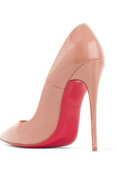 Christian Louboutin - So Kate 120 Patent-leather Pumps - Beige - IT37
