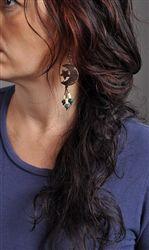 Moon and Star Acai Earrings at WildBerryEcoJewelry.com - $5.75