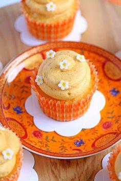 Dreamy Creamy Orange Cupcakes by Sugar Salt Magic