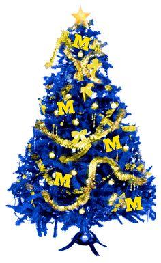 Michigan Band Maize  Blue: MERRY M-GO-BLUE CHRISTMAS