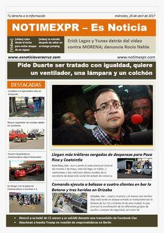 La Información más destacada con NOTIMEXPR – Es Noticia. miércoles, 26 de abril de 2017 - http://www.esnoticiaveracruz.com/la-informacion-mas-destacada-con-notimexpr-es-noticia-miercoles-26-de-abril-de-2017/
