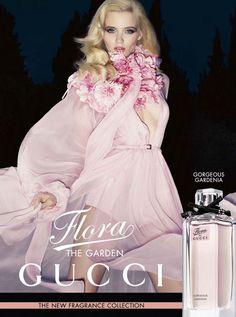 Abbey Lee Kershaw - Gucci Grace - Guccis Flora Fragrance Campaign, 2012  Sølve Sundsbø  www.solvesundsbo.info  via gucci.com    for #composition, #motion