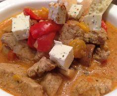 Rezept Gyrossuppe mit Kräuterschafskäse WeightWatchers von MariaLuca - Rezept der Kategorie Suppen