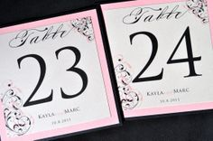 Wedding Table Numbers by JaxDesigns27 on Etsy, $4.25