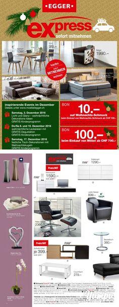 Prospekt Express Sortiment | Alle Möbel und Dekorationen aus diesem Katalog sind zum sofort mitnehmen | Weihnachten - Dezember 2016